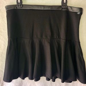 Guess-black with leather waist skirt.